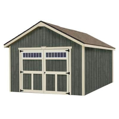 Dover 12 ft. x 24 ft. Wood Garage Kit without Floor