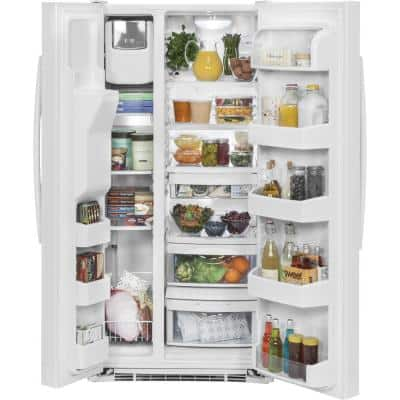 23.2 cu. ft. Side by Side Refrigerator in White