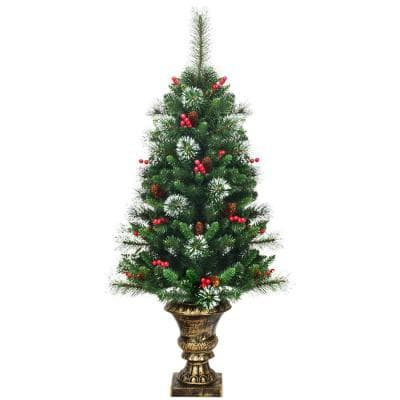 4 ft. Unlit Slim Fraser Fir Artificial Christmas Tree with 193 PVC Tips