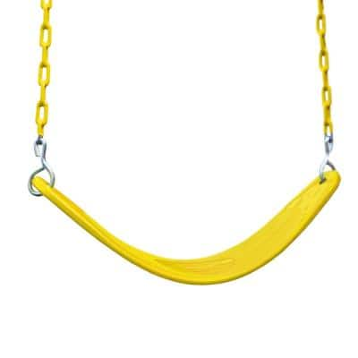 Extreme-Duty Yellow Belt Swing with Yellow Chains