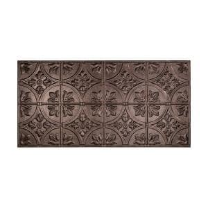 Traditional #2 2 ft. x 4 ft. Glue Up Vinyl Ceiling Tile in Smoked Pewter (40 sq. ft.)