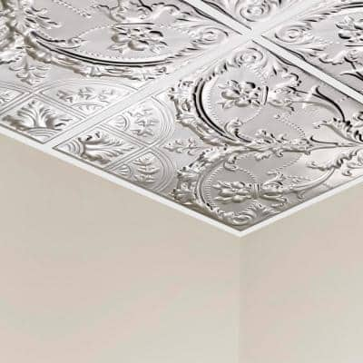 Saginaw 2 ft. x 2 ft. Lay-in Tin Ceiling Tile in Clear (20 sq. ft. / case of 5)