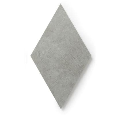 MosaiCore Concrete Rhombus 9 3/4 in. x 17 in. Glue Down Luxury Vinyl Tile (15.15 sq.ft./Case)