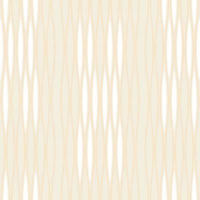 Canoe Texture Orange Vinyl Non-Woven Strippable Roll Wallpaper Covers 59.2 sq. ft.