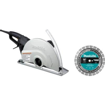 14 in. Electric Angle Cutter with 14 in. Diamond Blade