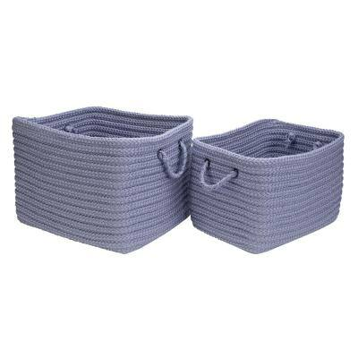 12 in. x 10 in. x 8 in. Modern Mudroom Polypropylene Storage in Violet