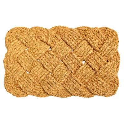 Natural 18 in. x 30 in. Handknotted Coir Doormat