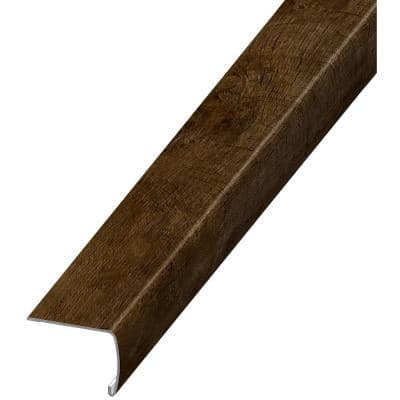 Trail Oak Brown 7 mm Thick x 2 in. Wide x 94 in. Length Coordinating Vinyl Stair Nose Molding
