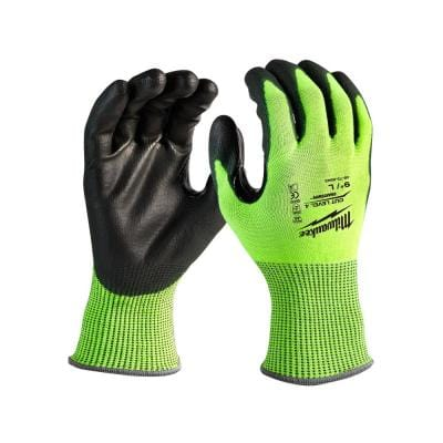 XX-Large High Visibility Level 4 Cut Resistant Polyurethane Dipped Work Gloves (12-Pack)