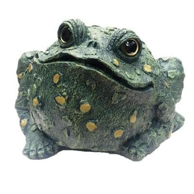 Toad Hollow 15 in. H Super Jumbo Classic Toad Whimsical Home and Garden Statue