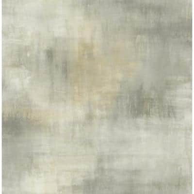 Pastel Wash Metallic Gold, Taupe, and Greige Paper Strippable Roll (Covers 56.05 sq. ft.)