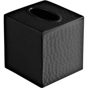 Roselli Trading Company 6 In Tissue Box Cover In Black Resin Cli Rsl3002400 The Home Depot