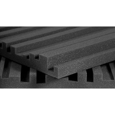 Studiofoam Metro Panels - 2 ft. W x 4 ft. L x 2 in. H - Charcoal (12 Panels per Box)