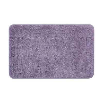 Terry Wisteria Purple 20 in. x 32 in. Microfiber Memory Foam Bath Mat