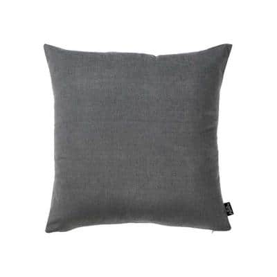 Josephine Grey Solid Color 20 in. x 20 in. Throw Pillow Cover (Set of 2)
