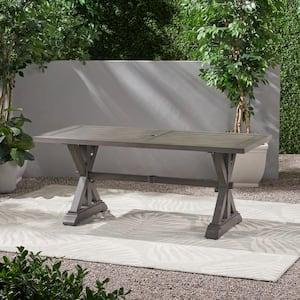 Lamphere 29.50 in. Dark Grey Rectangular Aluminum Outdoor Dining Table