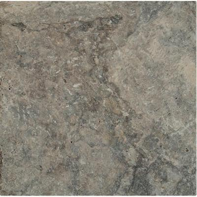 16 in. x 16 in. x 1.18 in. Silver Tumbled Travertine Paver Tile (1.78 sq. ft.)