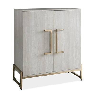 Larkin Faux Marble Wine Cabinet