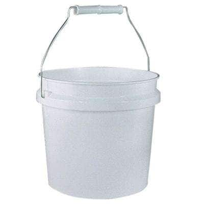 1-Gal. White Plastic Pail (Pack of 3)