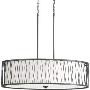 Wemberly Collection 4 -Light Graphite Pendant