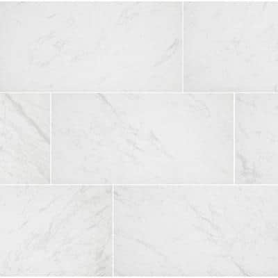Brilliance White Matte 12 in. x 24 in. Porcelain Floor and Wall Tile (133 sq. ft./Pack)