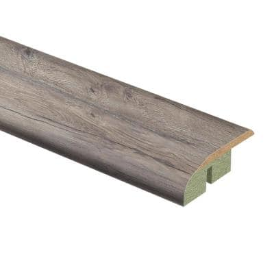 Waveford Gray Oak 1/2 in. T x 1-3/4 in. Wide x 72 in. Length Laminate Multi-Purpose Reducer Molding