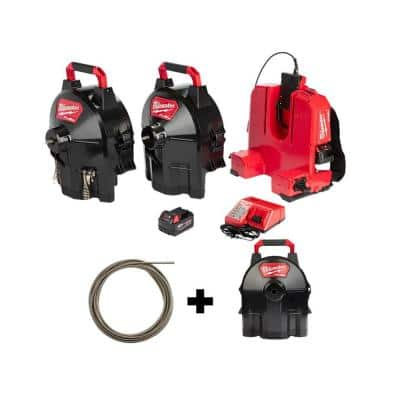 M18 FUEL Cordless Drain Cleaning 1/2 in. Switch Pack Sectional Drum System Kit W/ Bonus 1/2 in. x 50 ft. Cable & Drum
