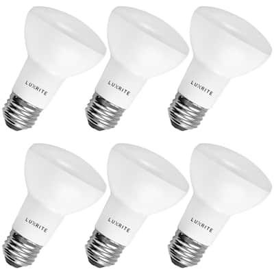 45-Watt Equivalent BR20 Dimmable LED Flood Light Bulb Damp Rated 3000K Soft White (6-Pack)