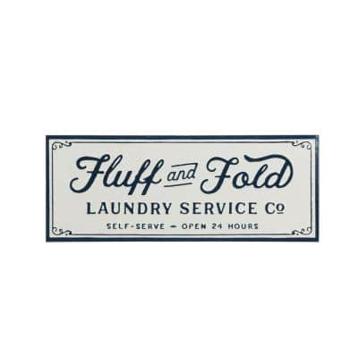 """""""Fluff and Fold"""" Metal Decorative Sign"""