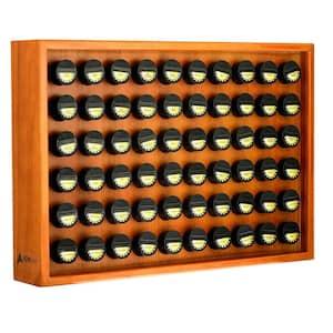 Espresso Wood Spice Rack with 60 Jars