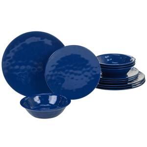 12-Piece Casual Multicolor Melamine Outdoor Dinnerware Set (Service for 4)
