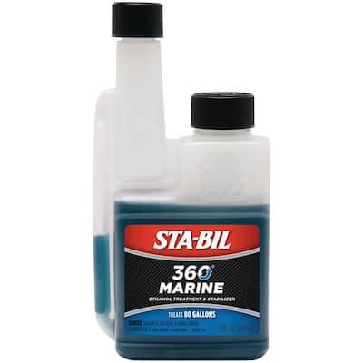STA-BIL 360 Marine Ethanol Treatment and Fuel Stabilizer 8 oz. Treats 80 Gallons of Fuel