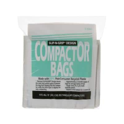 15 in. Heavy Duty Square Compactor Bags for GE Trash Compactors