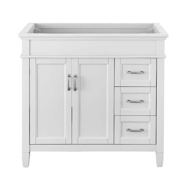 Home Decorators Collection Ashburn 36 In W X 21 75 In D Vanity Cabinet In White Aswa3621dr The Home Depot