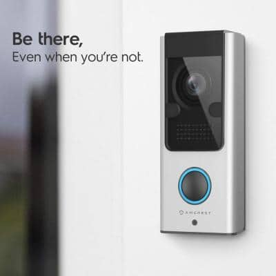 1080P WiFi Wired Video Doorbell Camera with IP55 Weatherproof, 2-Way Audio, 140-Degree Wide Angle