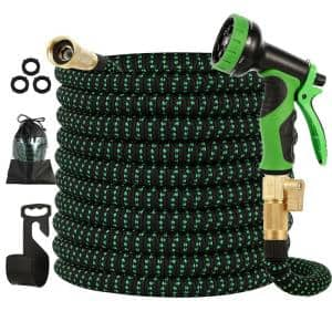 100 ft. Flexible Water Hose with 10 Function Nozzle Garden Water Hose Expandable Garden Hose