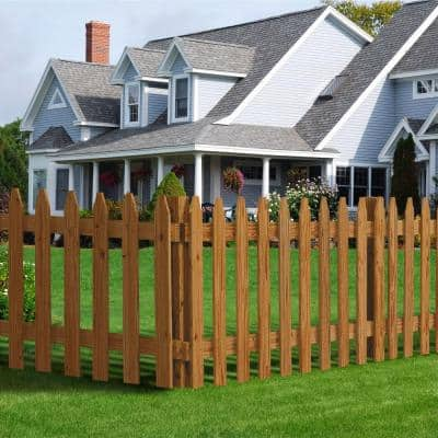 4 in. x 4 in. x 6 ft. Pressure-Treated Cedar-Tone Moulded Fence Post