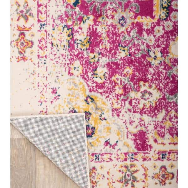 World Rug Gallery Bohemian Vintage Oriental Area Rug 3 3 X 5 Pink Mon831pink3x5 The Home Depot