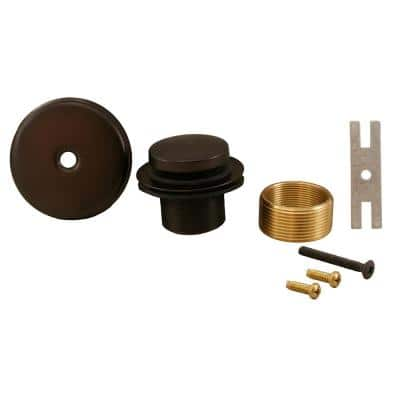 Toe Touch Bath Tub Drain Conversion Kit with 1-Hole Overflow Plate, Oil Rubbed Bronze