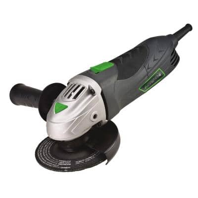 6 Amp 4-1/2 in. Angle Grinder with Grip Barrel, 2-Position Handle, Lock Switch, Grinding Wheel and Aux Handle