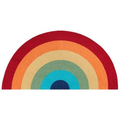 Cucina Rainbow Multi 1 ft. 5 in. x 2 ft. 10 in. Kitchen Mat