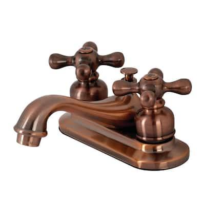 Restoration 4 in. Centerset 2-Handle Bathroom Faucet in Antique Copper