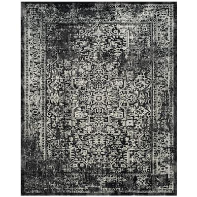 Evoke Black/Gray 8 ft. x 10 ft. Border Area Rug