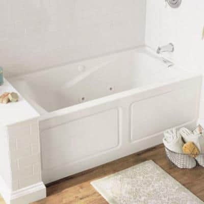 Evolution 60 in. x 32 in. Whirlpool Tub with EverClean Right Hand Drain in White