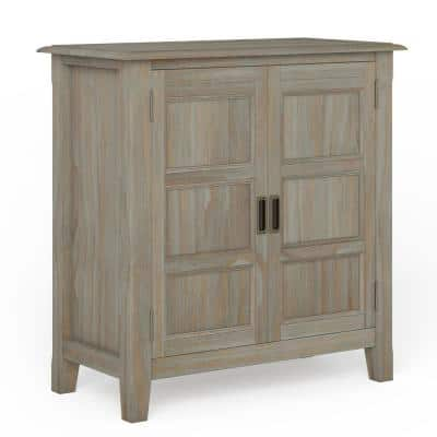 Burlington Solid Wood 30 in. Wide Traditional Low Storage Cabinet in Distressed Grey