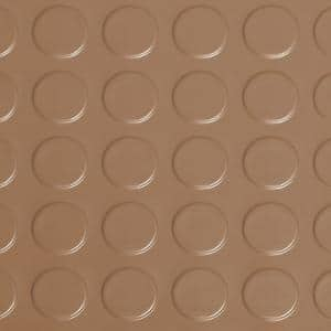 Coin 10 ft. x 24 ft. Sandstone Commercial Grade Vinyl Garage Flooring Cover and Protector