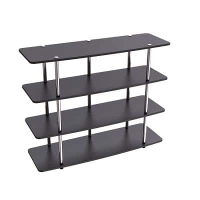 Designs2Go 47 in. Black Wood TV Stand 50 in. with Cable Management