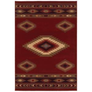 Aztec Red 8 ft. x 10 ft. Area Rug