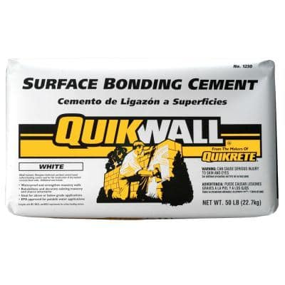 Quikwall 50 lb. White Surface-Bonding Cement