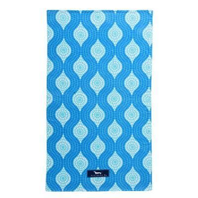 Mosaic Aint So Blue Cotton 40 in. x 70 in. Beach Towel